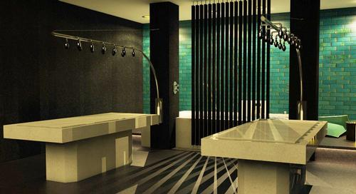 The signature spa suite at Spa Alila will comprise twin Vichy showers, a silk bath, heated treatment beds, twin rain showers and a steamroom / Alila / UBRNarc