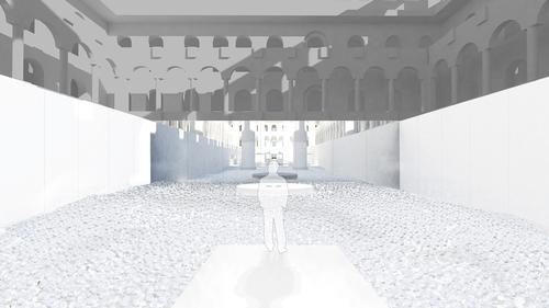 The 10,000sq ft BEACH uses a variety of materials and will be open until 7 September / Snarkitecture