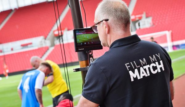 Matches can be filmed from up to 25ft above the pitch