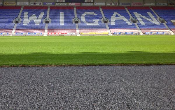 The new Ecocept turf is being installed at Wigan's DW Stadium