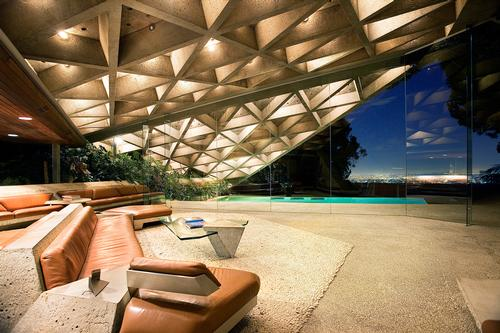 The building's design has constantly evolved over the past 30 years, with Goldstein and designer John Lautner working together to refine and adapt the property