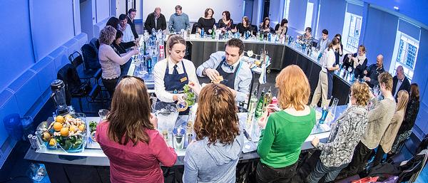 The masterclass is an opportunity to practice making cocktails and learn about cocktail culture