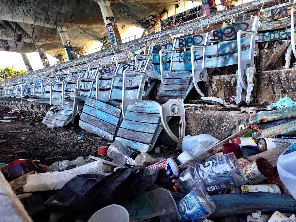 The stadium was closed 20 years ago and has fallen into a state of disrepair / Ines Hegedus-Garcia