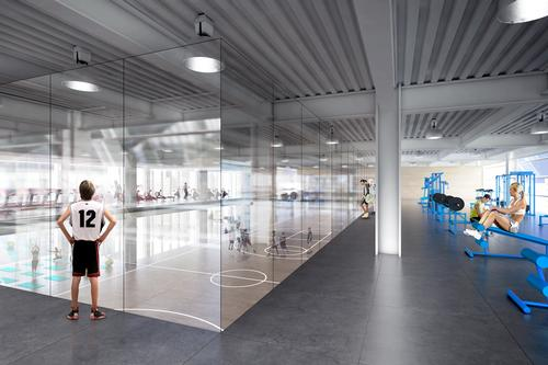 The 1,340ft tower could include a number of leisure amenities such as basketball courts / DBOX/BIG