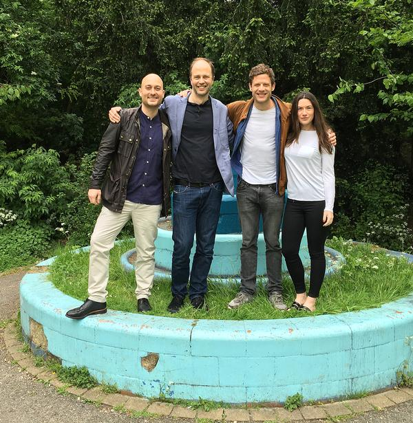 Actor James Norton (second from right) and the Peckham Lido team