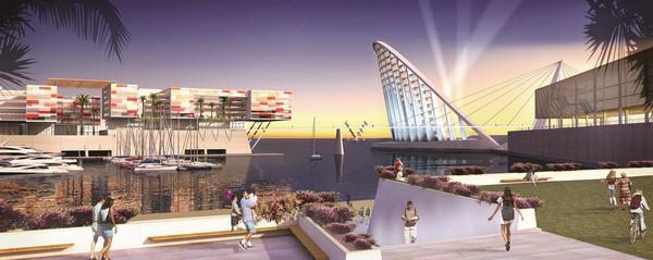 Las Palmas Water Theatre desalination plant, inspired by Namibian fog-basking beetles