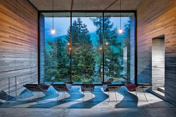 The Peter Zumthor-designed Therme Vals spa resort opened in 1996