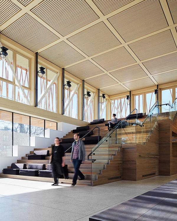 The lobby acts as a multi purpose space