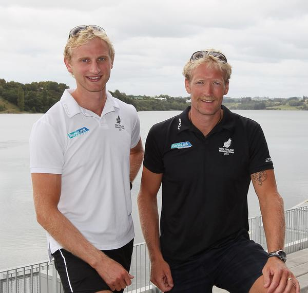 New Zealand rower Eric Murray (right)
