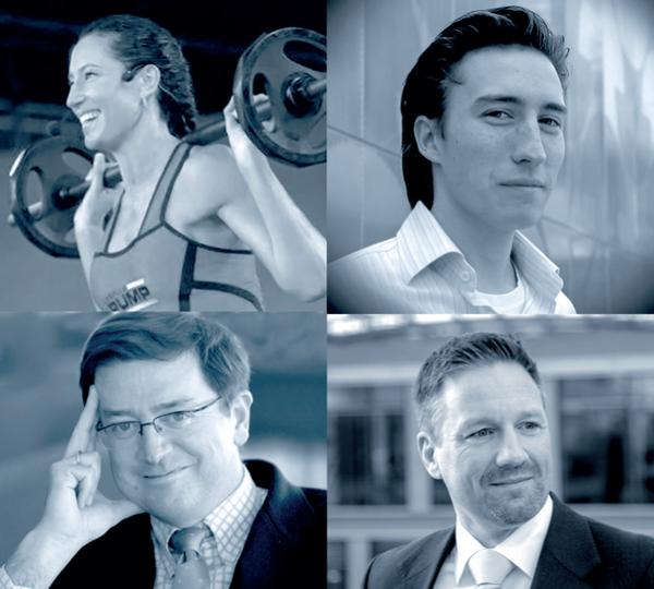 Clockwise from top left: Emma Barry, Christophe Collinet, Karsten Hollasch and Luis Maria Huete