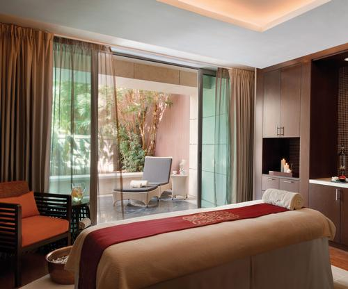 The hotel's Asian-themed spa includes eight treatment rooms