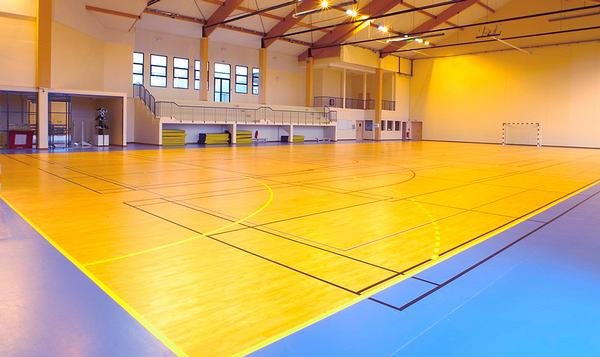 The sports hall is used by many groups for a variety of sports