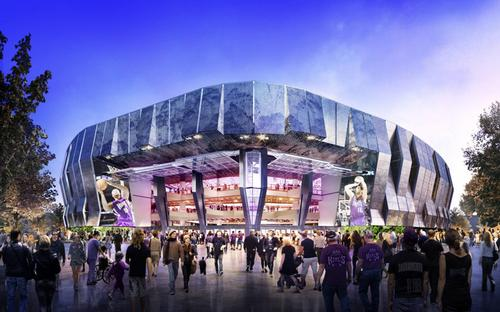 The Sacramento Kings will spend $284m on the 17,500-capacity Golden 1 Center / AECOM