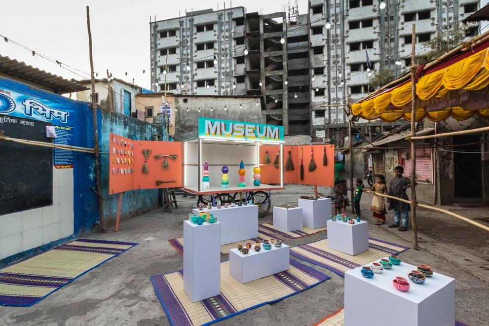 Spanish artist Jorge Mañes Rubio and art critic Amanda Pinatih have launched the project for an initial two month run to host workshops, exhibitions and cultural events / Design Museum Dharavi