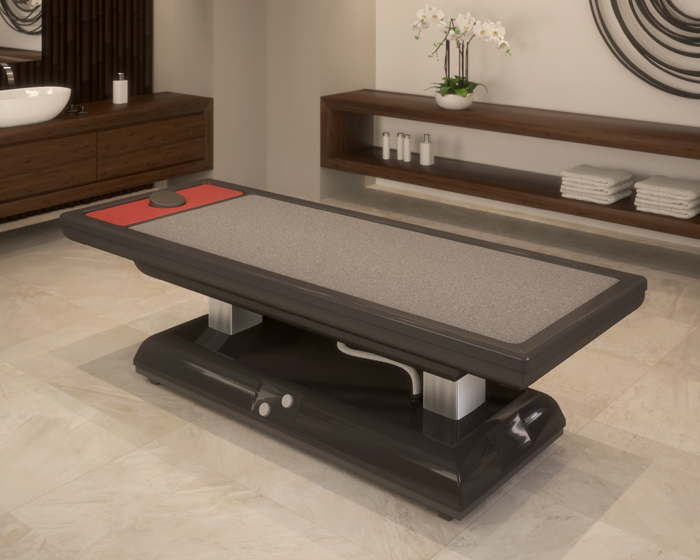 "Trautwein massage table offers warm ""sand baths"""