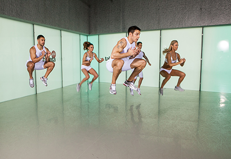 Tabata is well suited to small group classes