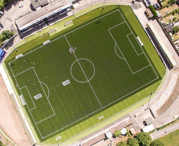 3G football turf pitch for Sutton United
