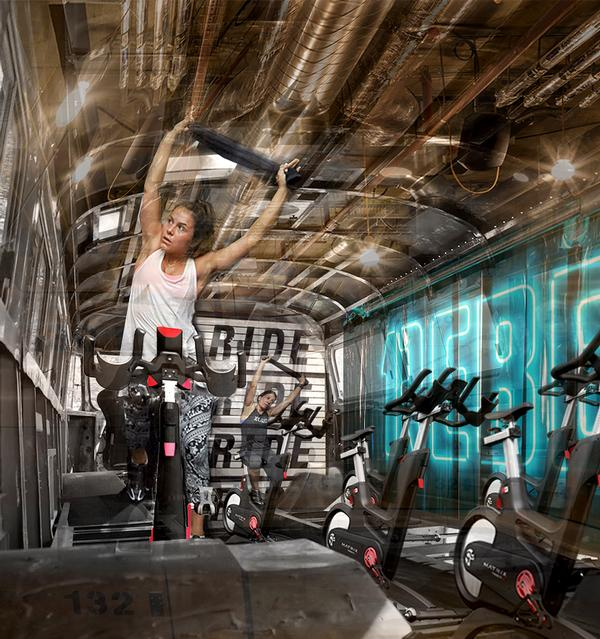 1Rebel's bus would offer onboard cycling classes on your way to work