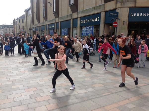 A flashmob marked the launch of the youth membership
