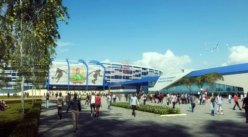 The stadium has been designed by The DLR Group as part of a wider masterplan for Kenyatta University / The DLR Group