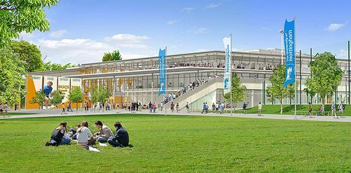 An artist's impression of the new £40m sports complex / Uni of Nottingham
