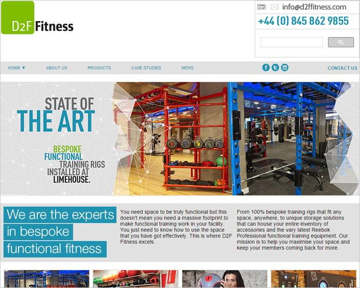 D2F Fitness unveils new website to support business growth in the UK