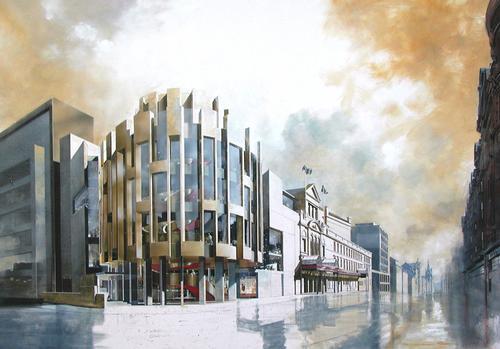 Theatre Royal Glasgow, artist's impression by Brian Allen