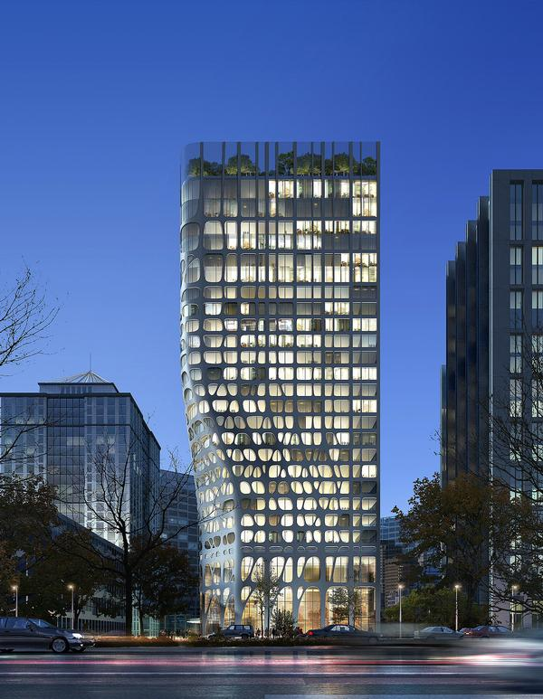 """The Beijing Conrad Hotel represents the """"subtle invasion of nature into our built landscape"""""""