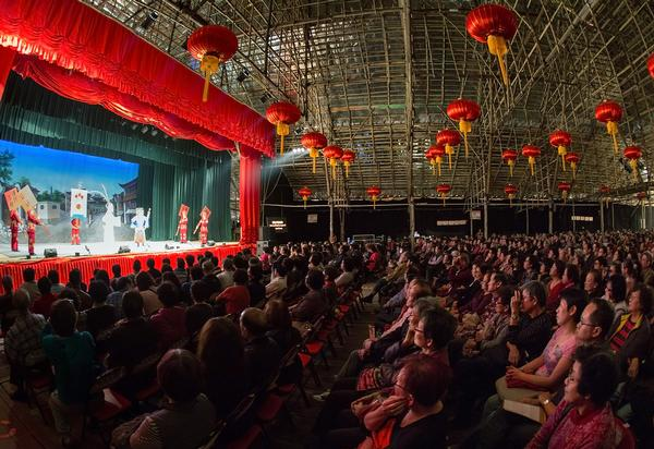 West Kowloon Bamboo Theatre hosted live Cantonese opera in Hong Kong in 2013