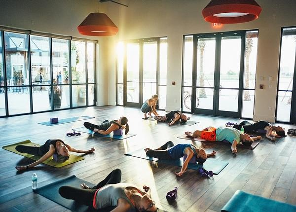 The development offers a programme of community activities, including yoga and other classes