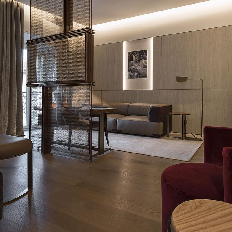 The suites are located above Fendi's boutique Rome store, allowing shoppers to stay the night / Fendi