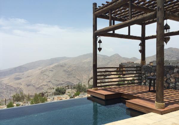 The Alila Jabal Akhdar opened in the Al Hajar Mountains last spring.