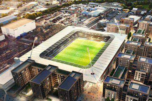 An artist's impression of the planned stadium / AFC Wimbledon