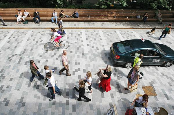 New Road has become a place where people like to linger, rather than just be in transit