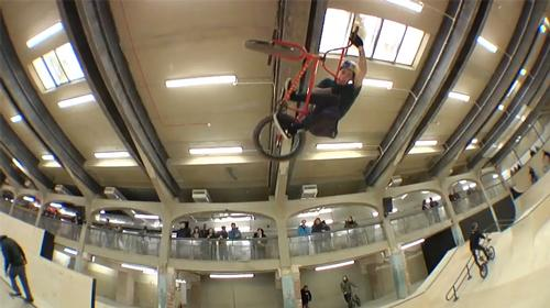 Professional BMX riders took part in a special event to celebrate Source Park's opening / Source Park