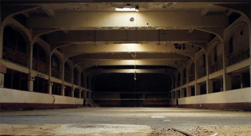 The building had previously been derelict since the 1990s when the former ice rink there closed / Source Park