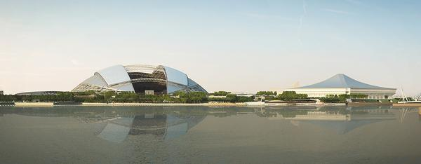 The hub will be located on the Kallang Basin waterfront, adding a perfect environment for water sports to the complex