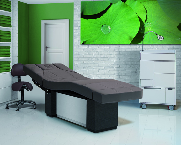 An elegant spa table for all treatments and customers