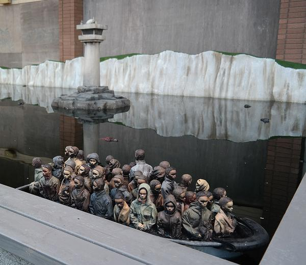 Banksy's Immigrants on a Boat