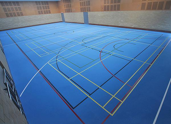 The new sports hall will be used for a wide range of sports