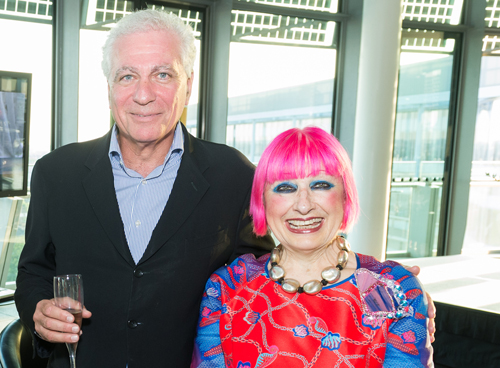 Simon Lowe, CEO of Grayshott, hosted the champagne reception with British fashion designer Dame Zandra Rhodes