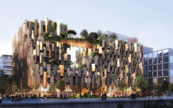 The building will be fronted by a planted promenade and act as a 'green lung' for the neighbourhood / IMAGE: LUXIGON