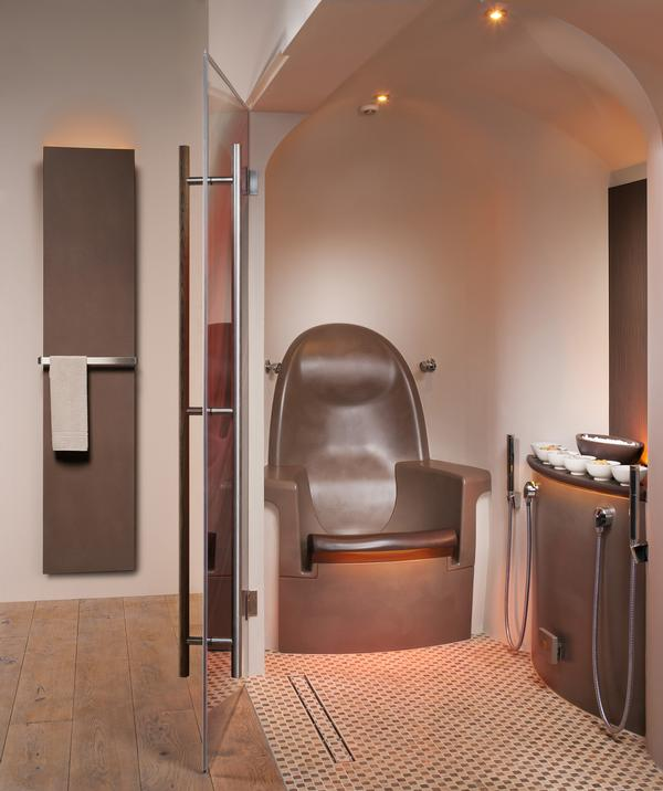 The healing clay treatment combines with infrared seats to relax the body