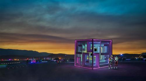 Jon Leung's Bismuth Bivouac will be colourfully lit at night