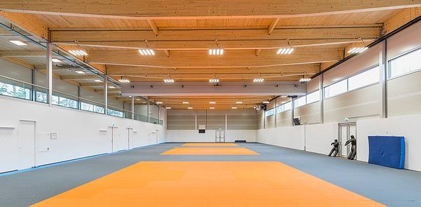The judo sports hall structure could be dismantled and reused