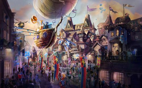 Port plaza follows a fantasy theme / LRCH Holdings