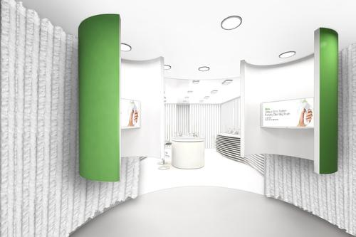 The digital pod experience at the Clinique pop-up takes clients through the stresses and strain facial skin is put under during the day / Vogue.co.uk