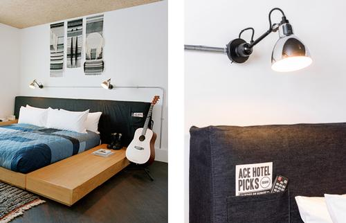 Bedroom details, the Ace Hotel, London / Universal Design Studio