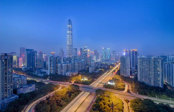 Shenzhen's skyline has been completely transformed in the space of three decades
