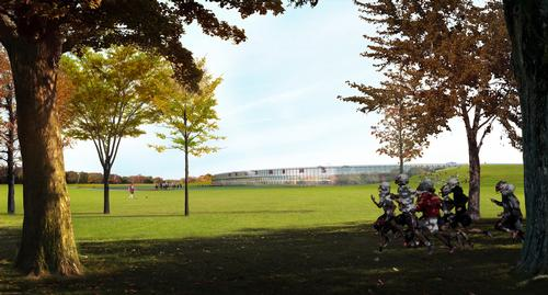 Parks and green space surround the ground / BIG